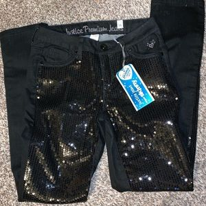NWT Black sequin jeans
